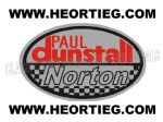 Paul Dunstall Norton Tank and Fairing Transfer Decal D20084-3